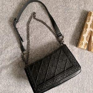 Forever 21 faux leather black shoulder bag